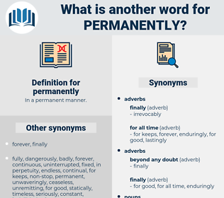 permanently, synonym permanently, another word for permanently, words like permanently, thesaurus permanently