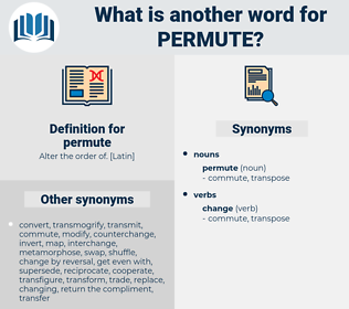 permute, synonym permute, another word for permute, words like permute, thesaurus permute