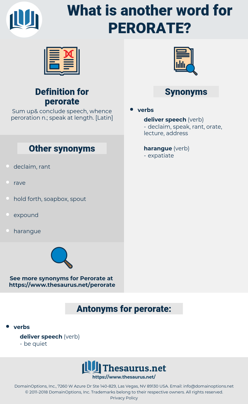 perorate, synonym perorate, another word for perorate, words like perorate, thesaurus perorate
