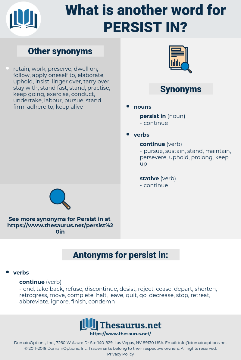 persist in, synonym persist in, another word for persist in, words like persist in, thesaurus persist in