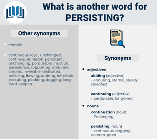persisting, synonym persisting, another word for persisting, words like persisting, thesaurus persisting