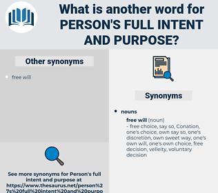 person's full intent and purpose, synonym person's full intent and purpose, another word for person's full intent and purpose, words like person's full intent and purpose, thesaurus person's full intent and purpose