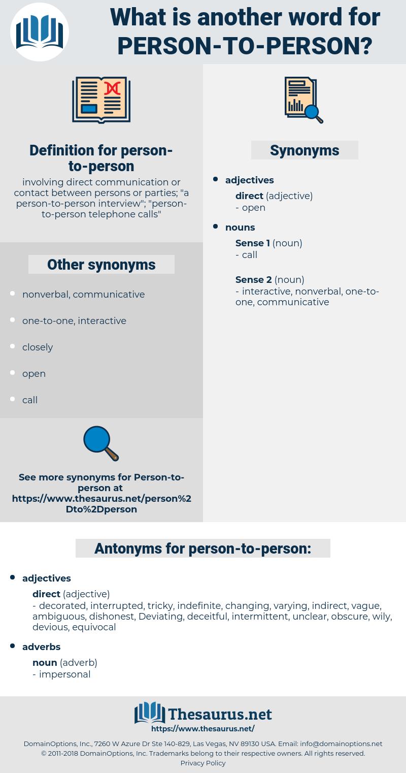 person-to-person, synonym person-to-person, another word for person-to-person, words like person-to-person, thesaurus person-to-person