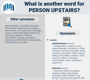 person upstairs, synonym person upstairs, another word for person upstairs, words like person upstairs, thesaurus person upstairs
