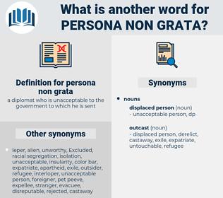 persona non grata, synonym persona non grata, another word for persona non grata, words like persona non grata, thesaurus persona non grata