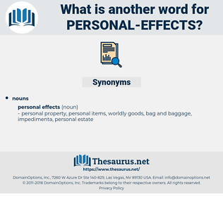 personal effects, synonym personal effects, another word for personal effects, words like personal effects, thesaurus personal effects