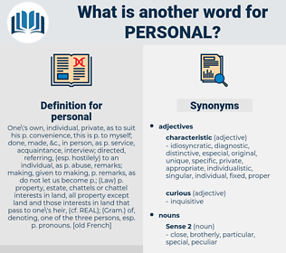 personal, synonym personal, another word for personal, words like personal, thesaurus personal