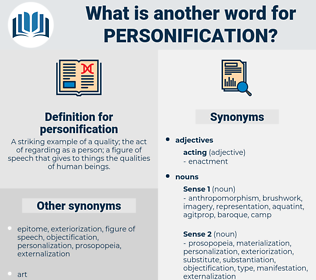 personification, synonym personification, another word for personification, words like personification, thesaurus personification