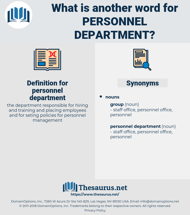 personnel department, synonym personnel department, another word for personnel department, words like personnel department, thesaurus personnel department