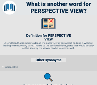 PERSPECTIVE VIEW, synonym PERSPECTIVE VIEW, another word for PERSPECTIVE VIEW, words like PERSPECTIVE VIEW, thesaurus PERSPECTIVE VIEW