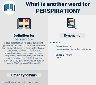 perspiration, synonym perspiration, another word for perspiration, words like perspiration, thesaurus perspiration