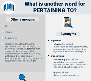 pertaining to, synonym pertaining to, another word for pertaining to, words like pertaining to, thesaurus pertaining to