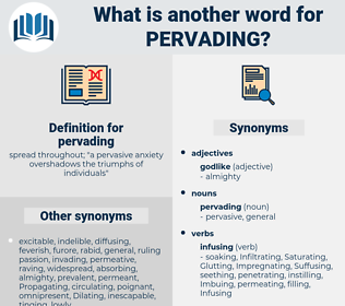 pervading, synonym pervading, another word for pervading, words like pervading, thesaurus pervading