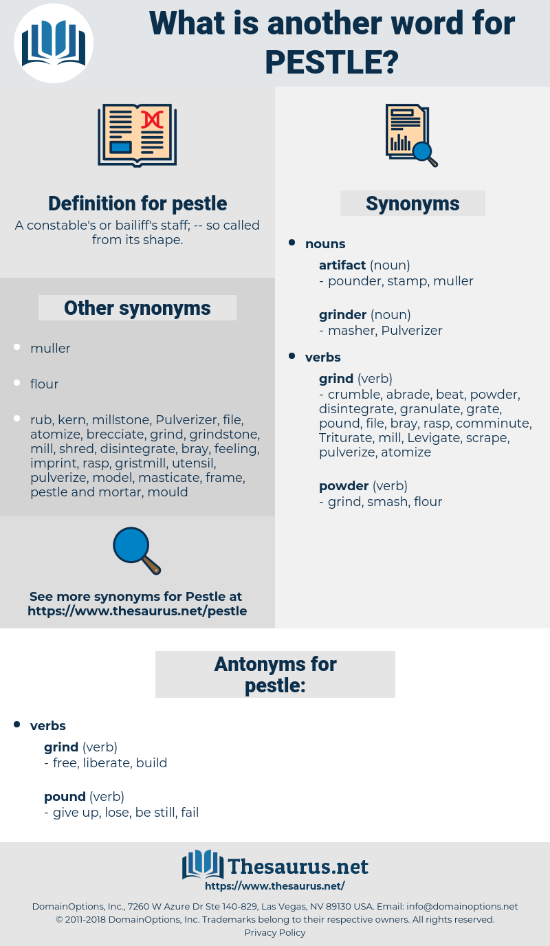 pestle, synonym pestle, another word for pestle, words like pestle, thesaurus pestle