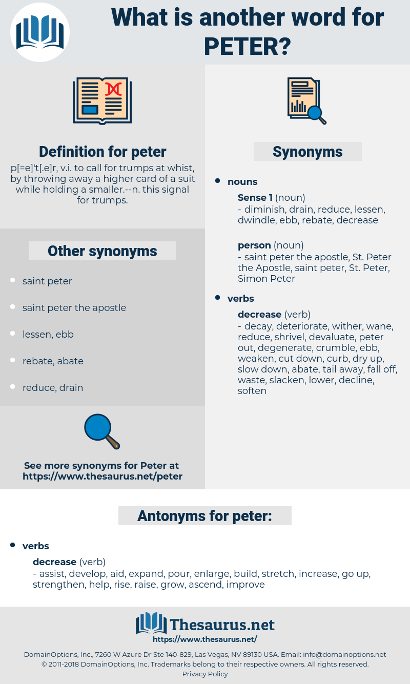 peter, synonym peter, another word for peter, words like peter, thesaurus peter