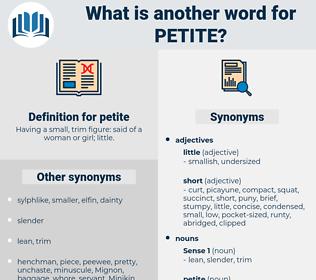 petite, synonym petite, another word for petite, words like petite, thesaurus petite