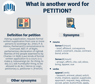 petition, synonym petition, another word for petition, words like petition, thesaurus petition