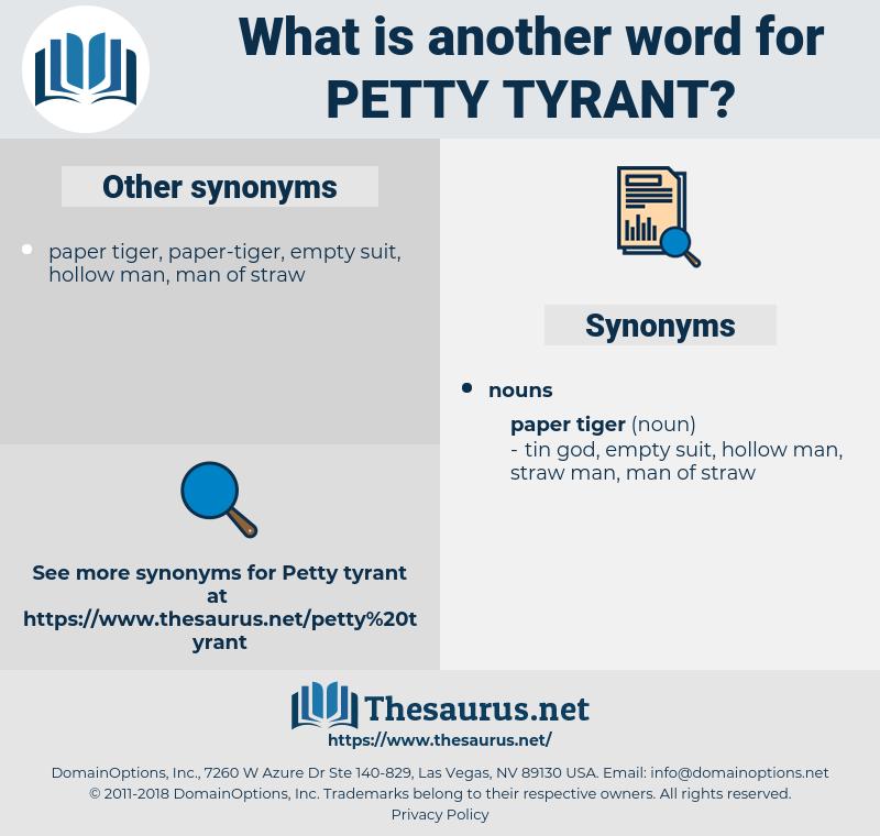 petty tyrant, synonym petty tyrant, another word for petty tyrant, words like petty tyrant, thesaurus petty tyrant