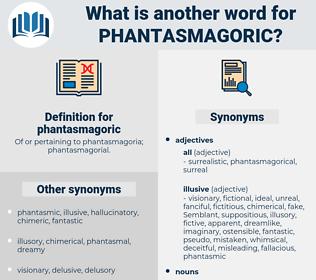 phantasmagoric, synonym phantasmagoric, another word for phantasmagoric, words like phantasmagoric, thesaurus phantasmagoric