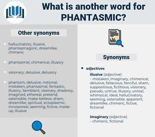 phantasmic, synonym phantasmic, another word for phantasmic, words like phantasmic, thesaurus phantasmic