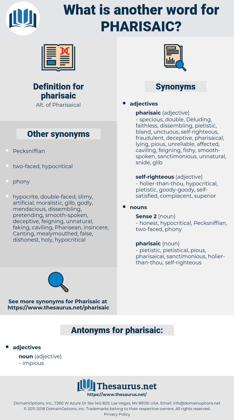 pharisaic, synonym pharisaic, another word for pharisaic, words like pharisaic, thesaurus pharisaic