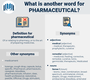 pharmaceutical, synonym pharmaceutical, another word for pharmaceutical, words like pharmaceutical, thesaurus pharmaceutical