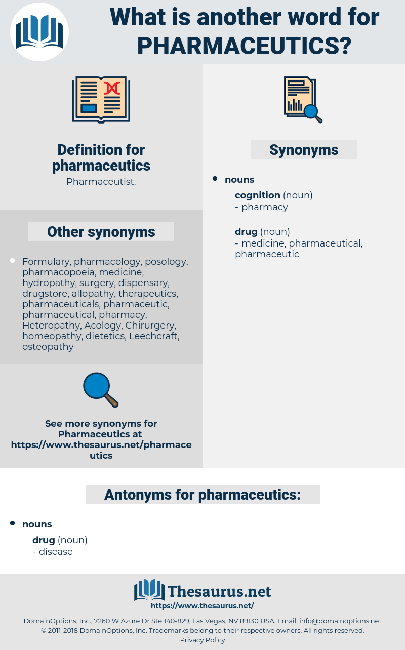pharmaceutics, synonym pharmaceutics, another word for pharmaceutics, words like pharmaceutics, thesaurus pharmaceutics