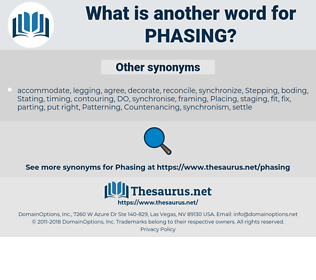 Phasing, synonym Phasing, another word for Phasing, words like Phasing, thesaurus Phasing