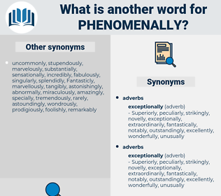 phenomenally, synonym phenomenally, another word for phenomenally, words like phenomenally, thesaurus phenomenally