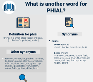 phial, synonym phial, another word for phial, words like phial, thesaurus phial