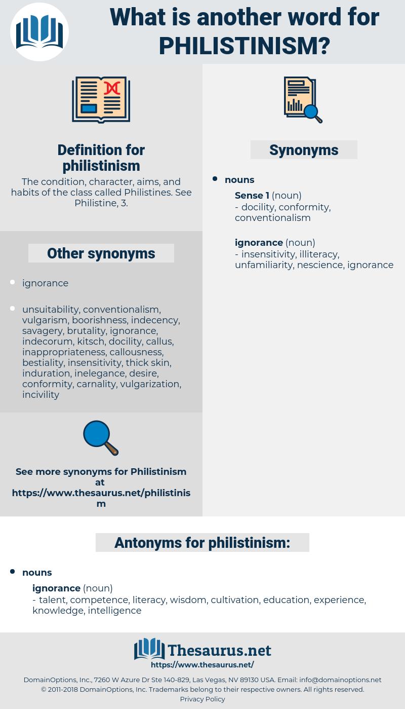 philistinism, synonym philistinism, another word for philistinism, words like philistinism, thesaurus philistinism
