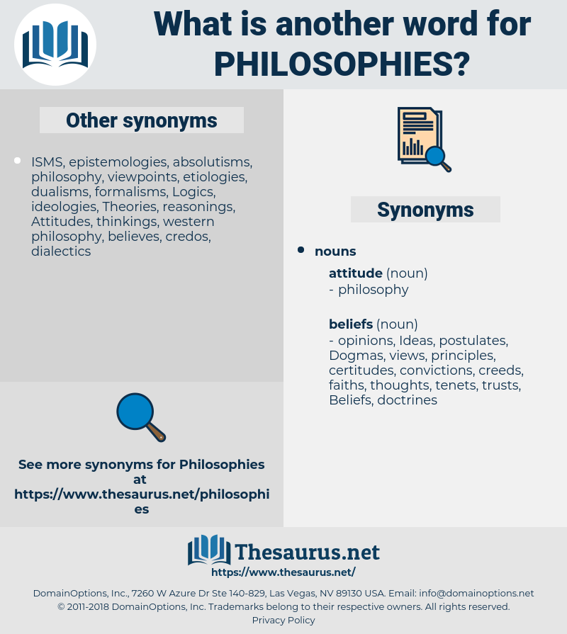 Philosophies, synonym Philosophies, another word for Philosophies, words like Philosophies, thesaurus Philosophies