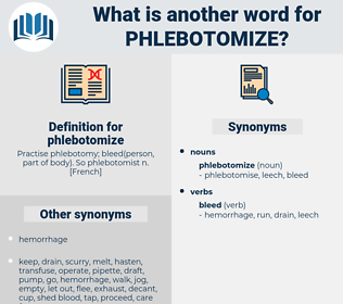 phlebotomize, synonym phlebotomize, another word for phlebotomize, words like phlebotomize, thesaurus phlebotomize