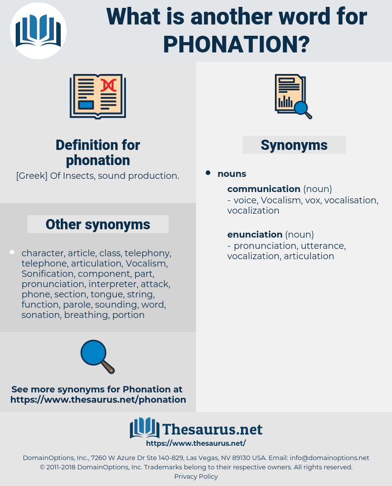 phonation, synonym phonation, another word for phonation, words like phonation, thesaurus phonation
