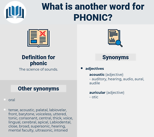 phonic, synonym phonic, another word for phonic, words like phonic, thesaurus phonic
