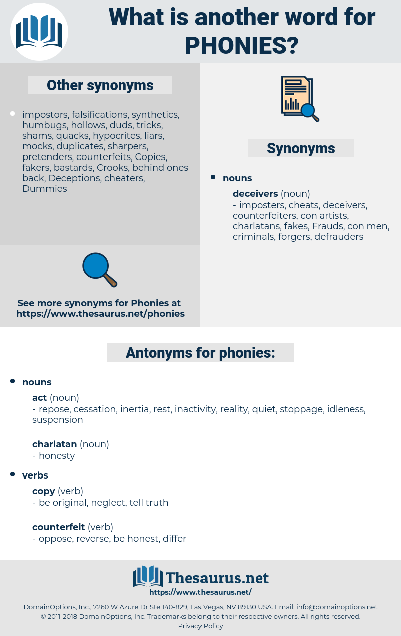 phonies, synonym phonies, another word for phonies, words like phonies, thesaurus phonies