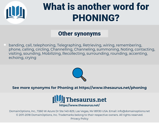 phoning, synonym phoning, another word for phoning, words like phoning, thesaurus phoning
