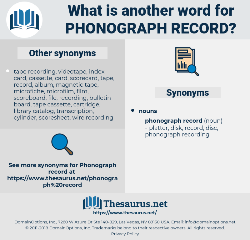 phonograph record, synonym phonograph record, another word for phonograph record, words like phonograph record, thesaurus phonograph record