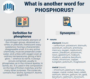 phosphorus, synonym phosphorus, another word for phosphorus, words like phosphorus, thesaurus phosphorus