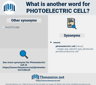 photoelectric cell, synonym photoelectric cell, another word for photoelectric cell, words like photoelectric cell, thesaurus photoelectric cell
