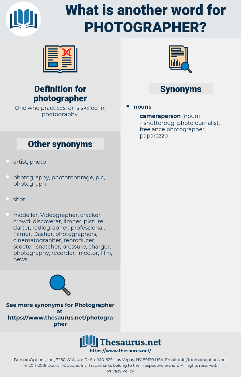 photographer, synonym photographer, another word for photographer, words like photographer, thesaurus photographer