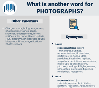 photographs, synonym photographs, another word for photographs, words like photographs, thesaurus photographs