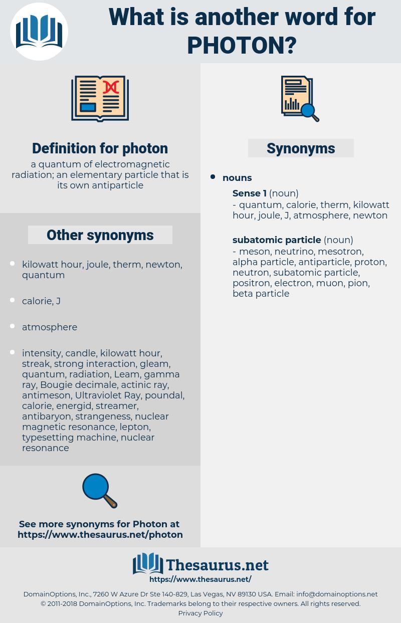 photon, synonym photon, another word for photon, words like photon, thesaurus photon