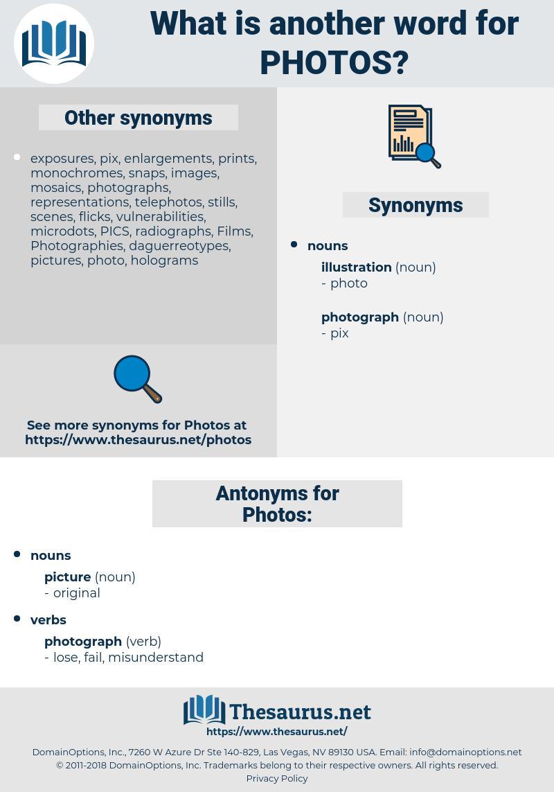 Photos, synonym Photos, another word for Photos, words like Photos, thesaurus Photos