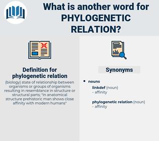 phylogenetic relation, synonym phylogenetic relation, another word for phylogenetic relation, words like phylogenetic relation, thesaurus phylogenetic relation