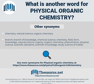 physical organic chemistry, synonym physical organic chemistry, another word for physical organic chemistry, words like physical organic chemistry, thesaurus physical organic chemistry