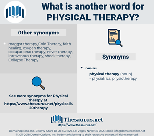 physical therapy, synonym physical therapy, another word for physical therapy, words like physical therapy, thesaurus physical therapy