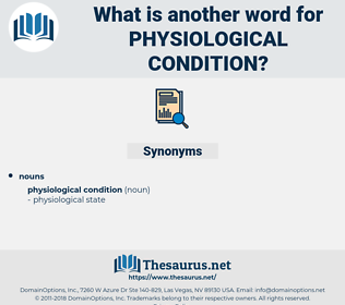 physiological condition, synonym physiological condition, another word for physiological condition, words like physiological condition, thesaurus physiological condition