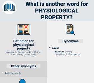 physiological property, synonym physiological property, another word for physiological property, words like physiological property, thesaurus physiological property
