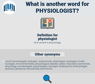 physiologist, synonym physiologist, another word for physiologist, words like physiologist, thesaurus physiologist